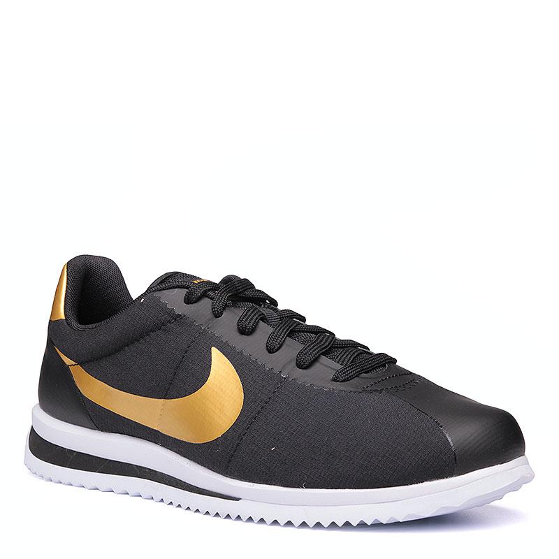 Кроссовки  Nike Sportswear Cortez Ultra QSКроссовки lifestyle<br>Текстиль, пластик, резина<br><br>Цвет: Чёрный, золотой, белый<br>Размеры US: 8;9;9.5;10;10.5;11;11.5<br>Пол: Мужской