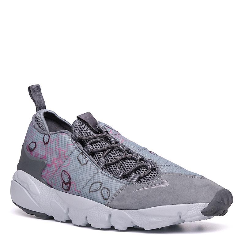 Кроссовки  Nike Sportswear Air Footscape NM Prem QSКроссовки lifestyle<br>Текстиль, пластик, резина<br><br>Цвет: Серый, розовый<br>Размеры US: 9<br>Пол: Мужской