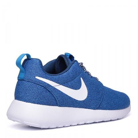 женские синие, белые  кроссовки nike wmns roshe one 844994-400 - цена, описание, фото 2