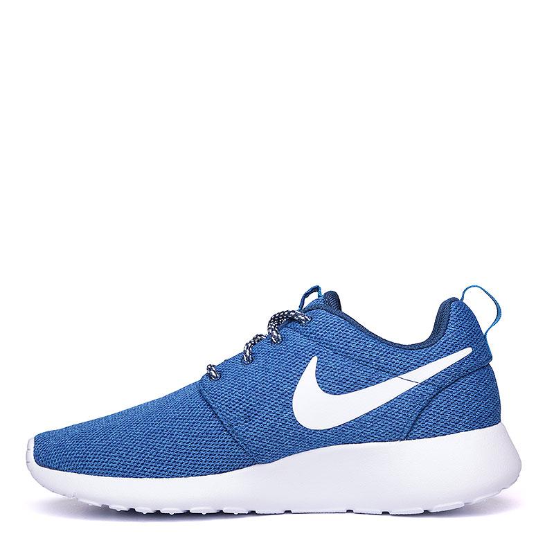 женские синие, белые  кроссовки nike wmns roshe one 844994-400 - цена, описание, фото 3