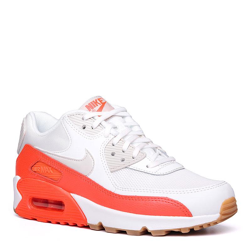 Кроссовки  Nike Sportswear WMNS Air Max 90 EssentialКроссовки lifestyle<br>Кожа, синтетическая кожа, текстиль, резина<br><br>Цвет: Белый, коралловый<br>Размеры US: 6;6.5;7;7.5;8;8.5<br>Пол: Женский
