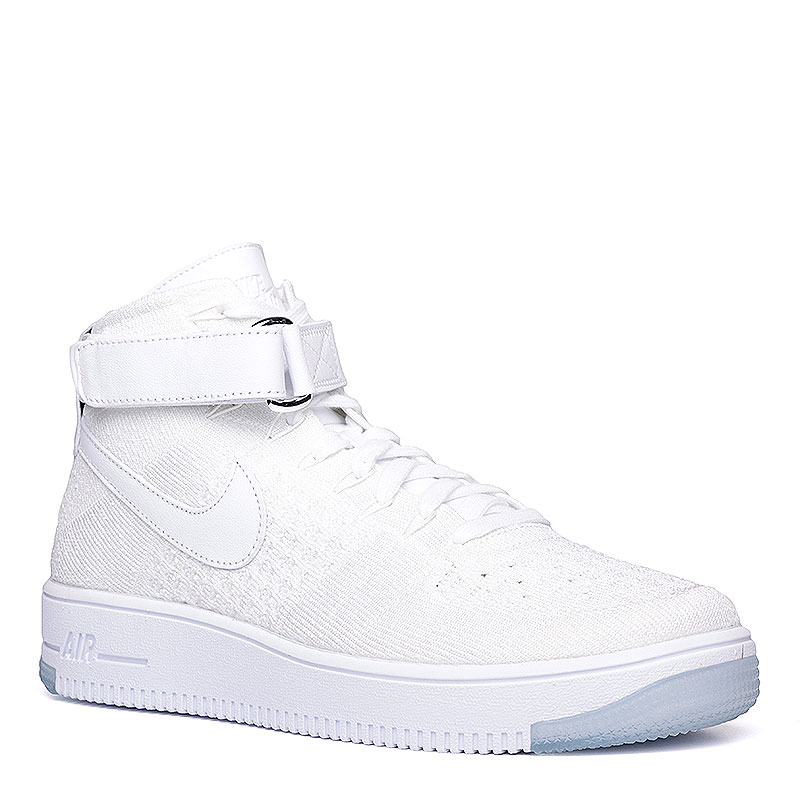 Кроссовки Nike Sportswear Air Force 1 Ultra Flyknit MidКроссовки lifestyle<br>Текстиль, резина<br><br>Цвет: Белый<br>Размеры US: 8<br>Пол: Мужской