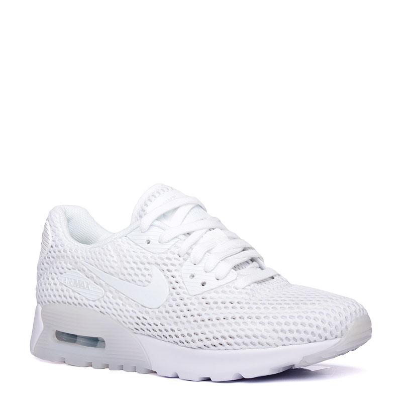 Кроссовки Nike sportswear WMNS Air Max 90 Ultra BreezeКроссовки lifestyle<br>текстиль,резина<br><br>Цвет: Белый<br>Размеры US: 5.5<br>Пол: Женский