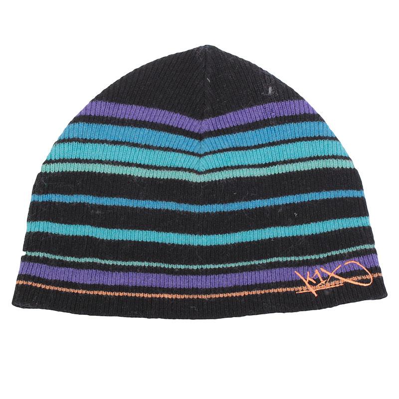 Шапка K1X yeezy striped beanieШапки<br>акрил<br><br>Цвет: Черный<br>Размеры US: OS<br>Пол: Мужской