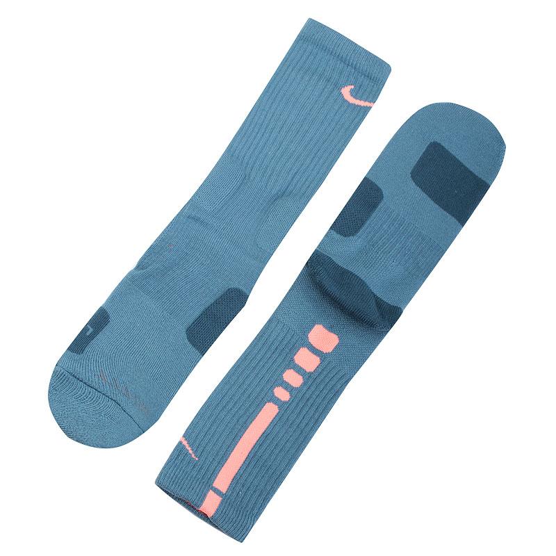 Носки Nike Dri-FIT Elite CrewНоски<br>Эластан, полиэстер, нейлон, хлопок<br><br>Цвет: Голубой<br>Размеры US: L;XL<br>Пол: Мужской