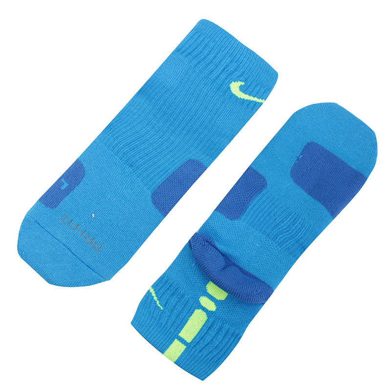 Носки Nike Dri-FIT Elite CrewНоски<br>Эластан, полиэстер, нейлон, хлопок<br><br>Цвет: Голубой<br>Размеры US: M;L;XL<br>Пол: Мужской