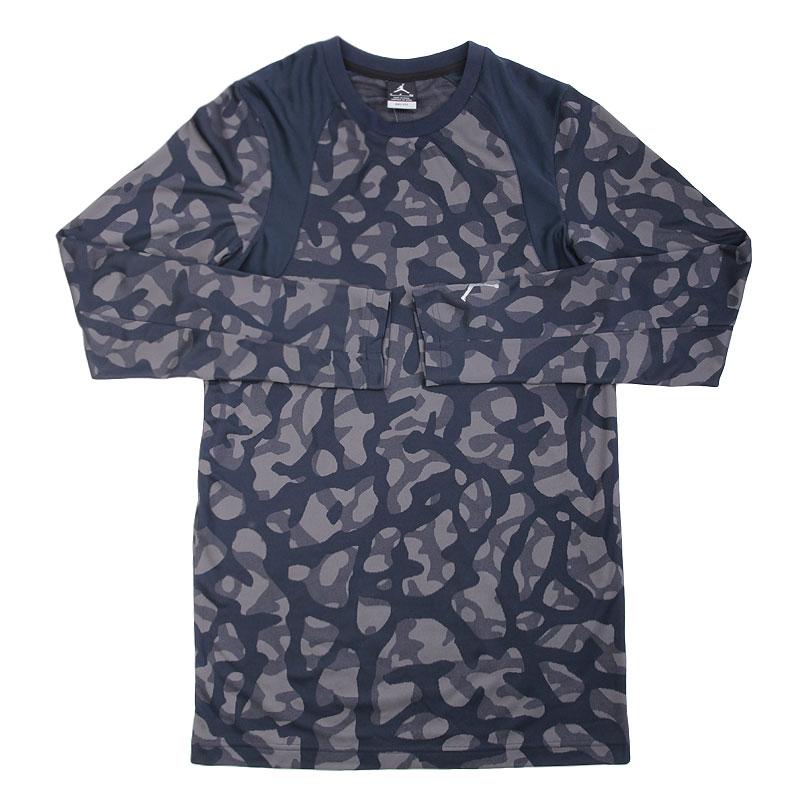 Футболка Jordan L/S TopКомпрессионное белье<br>полиэстер<br><br>Цвет: Серый,синий<br>Размеры US: S;L;2XL<br>Пол: Мужской