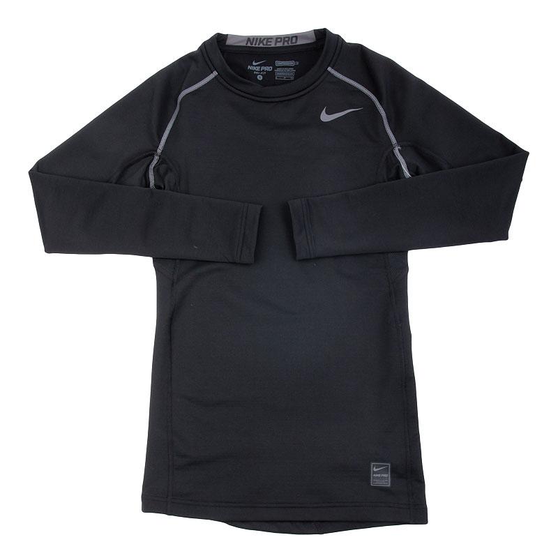 Футболка Nike Pro HyperwarmКомпрессионное белье<br>полиэстер<br><br>Цвет: Черный<br>Размеры US: S<br>Пол: Мужской