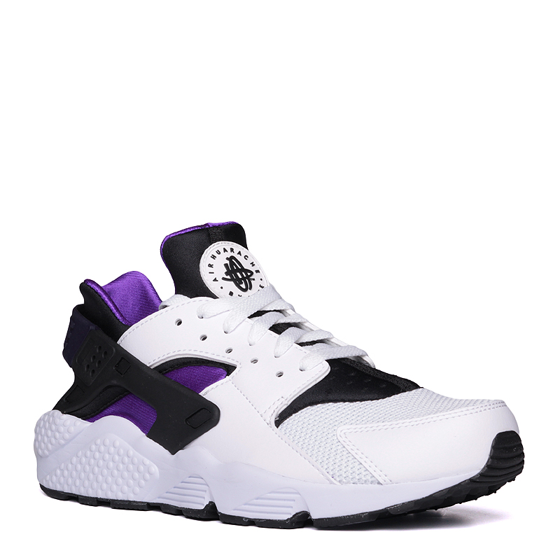 Кроссовки Nike Sportswear Air HuaracheКроссовки lifestyle<br>синтетика,текстиль,резина<br><br>Цвет: Белый,фиолетовый<br>Размеры US: 8;9;9.5;10;10.5;11<br>Пол: Мужской