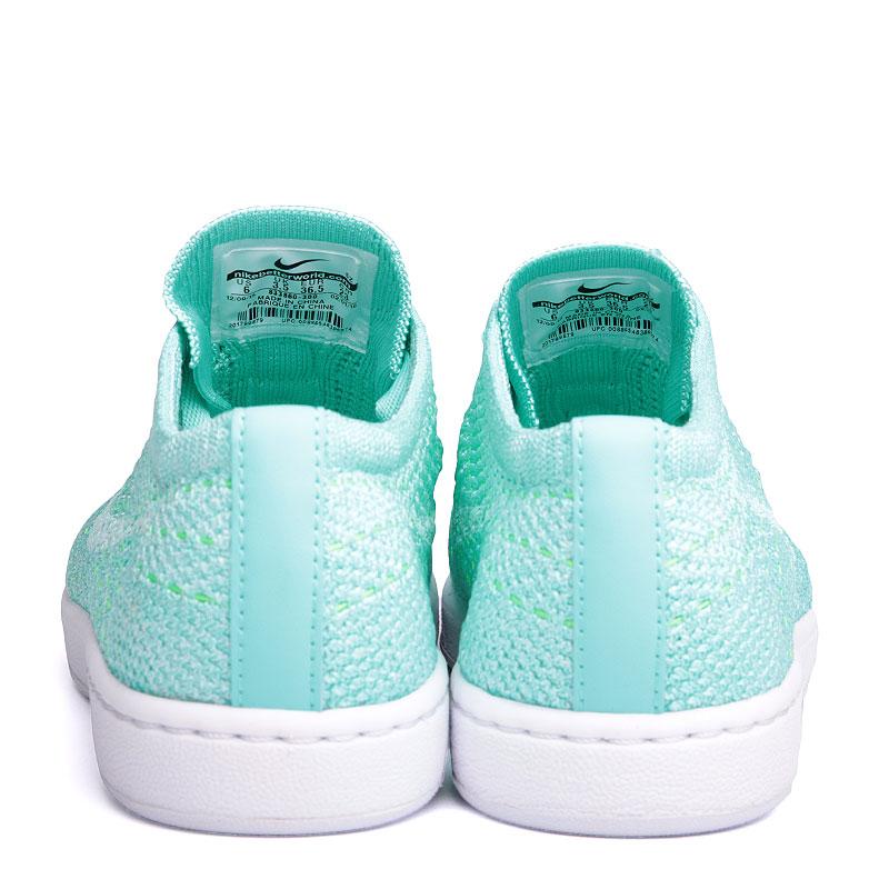 женские голубые, белые  кроссовки nike wmns tennis classic ultra flyknit 833860-300 - цена, описание, фото 6