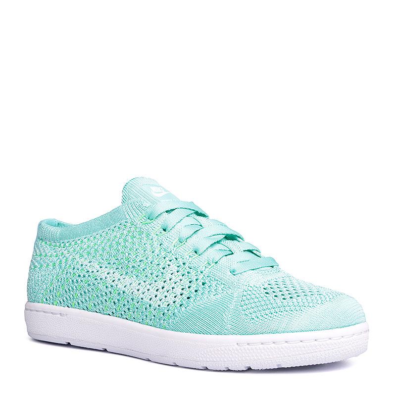 женские голубые, белые  кроссовки nike wmns tennis classic ultra flyknit 833860-300 - цена, описание, фото 1