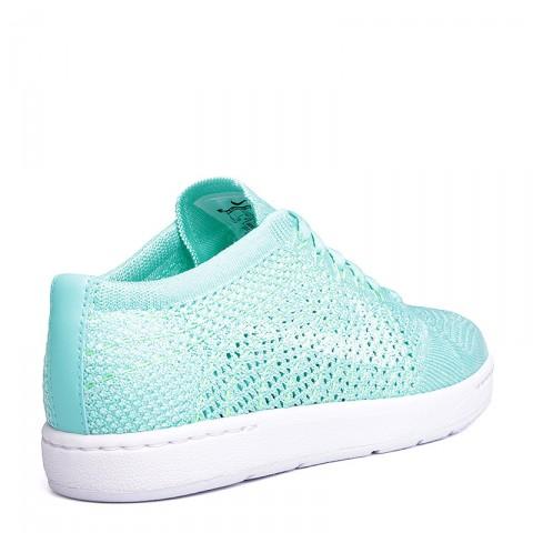 Купить женские голубые, белые  кроссовки nike wmns tennis classic ultra flyknit в магазинах Streetball - изображение 3 картинки
