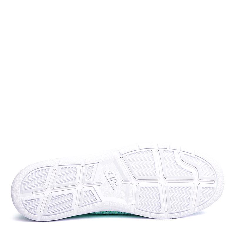 женские голубые, белые  кроссовки nike wmns tennis classic ultra flyknit 833860-300 - цена, описание, фото 4