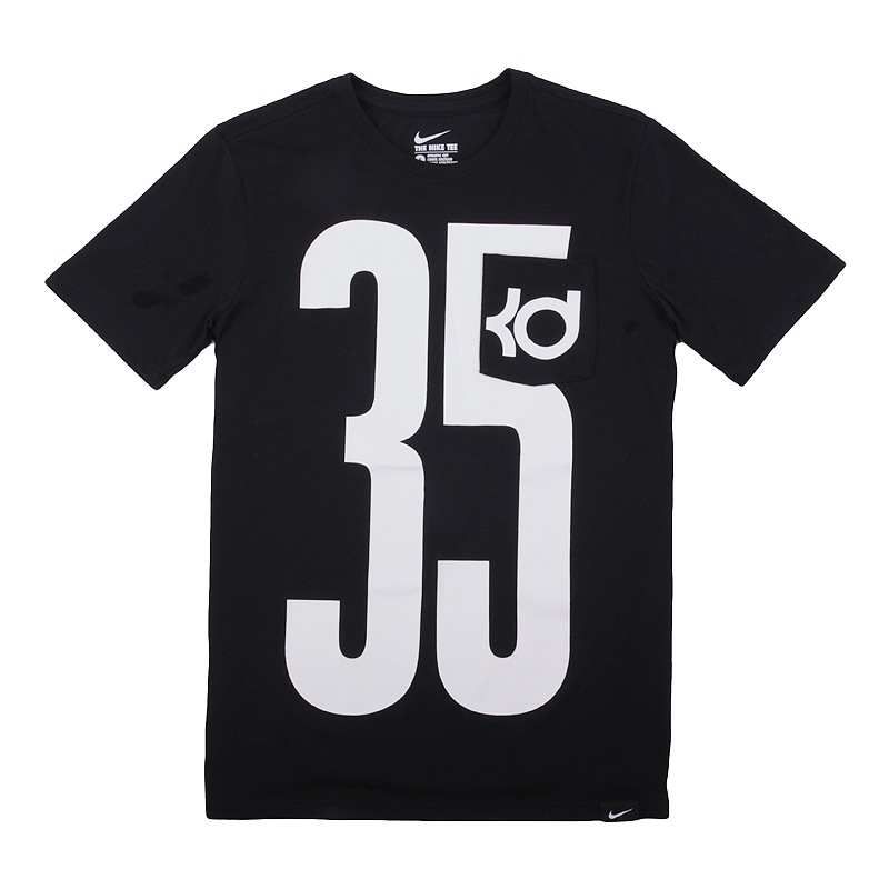 Футболка Nike KD Pocket Jersey TeeФутболки<br>58% хлопок, 42% полиэстер<br><br>Цвет: Черный<br>Размеры US: S;XL<br>Пол: Мужской