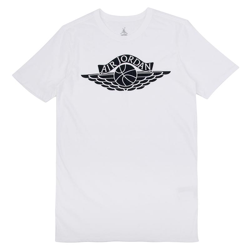 Футболка Jordan AJ 1 Wings TeeФутболки<br>100% хлопок<br><br>Цвет: Белый<br>Размеры US: S<br>Пол: Мужской