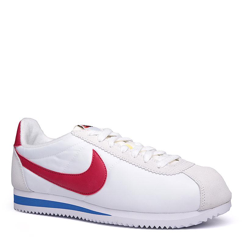 Кроссовки Nike Sportswear Classic Cortez AW QSКроссовки lifestyle<br>Текстиль, кожа, резина<br><br>Цвет: Белый, красный, синий<br>Размеры US: 8.5;9.5;10;11.5;12<br>Пол: Мужской