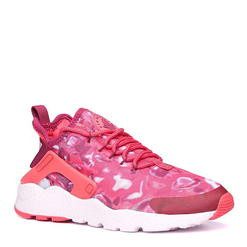 Кроссовки Nike Sportswear WMNS Air Huarache Run Ultra PrintКроссовки lifestyle<br>Текстиль, пластик, резина<br><br>Цвет: Красный, белый<br>Размеры US: 7.5<br>Пол: Женский