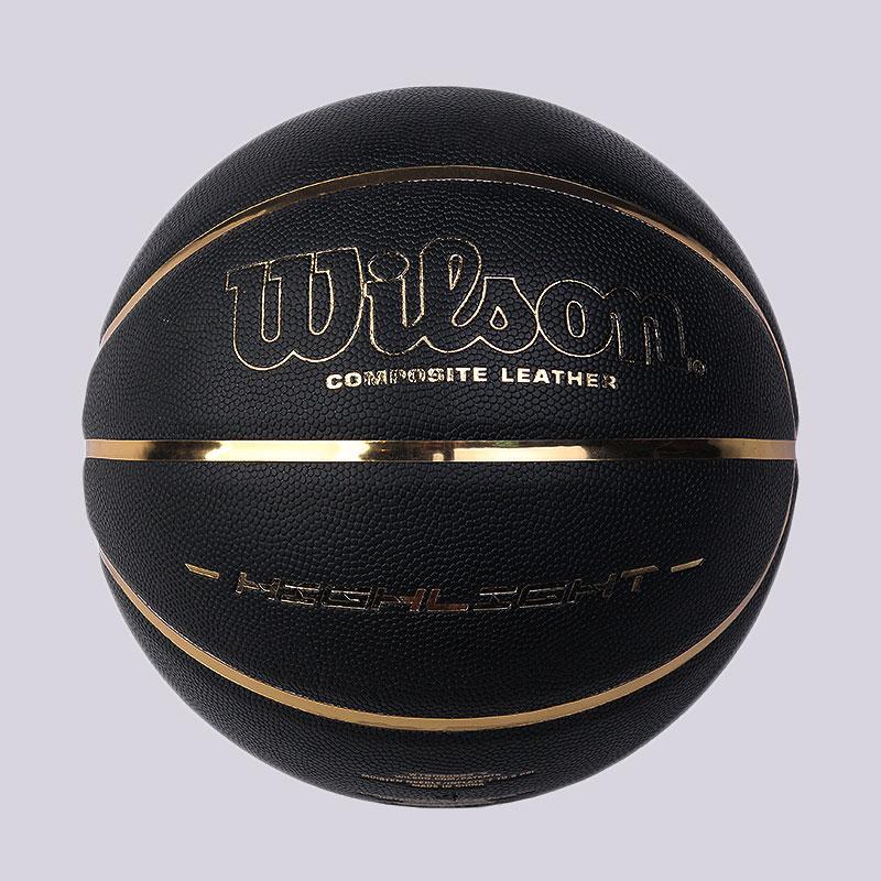 чёрный, золотой  мяч №7 wilson  WTB068523XB7 - цена, описание, фото 1