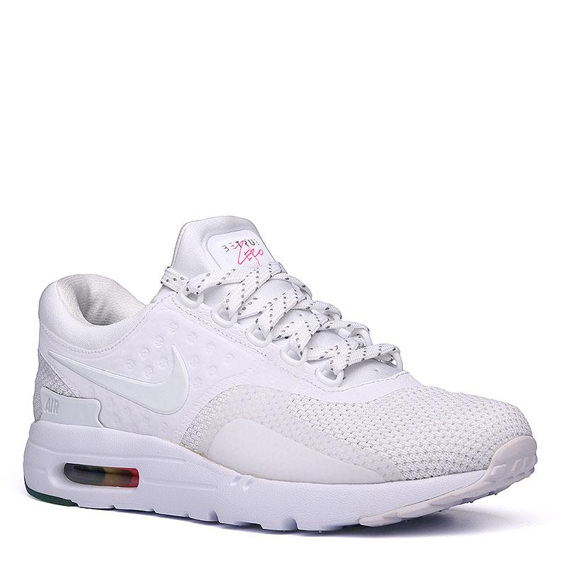 Кроссовки  Nike Sportswear Air Max Zero QSКроссовки lifestyle<br>Пластик, текстиль, резина<br><br>Цвет: Белый<br>Размеры US: 12<br>Пол: Мужской