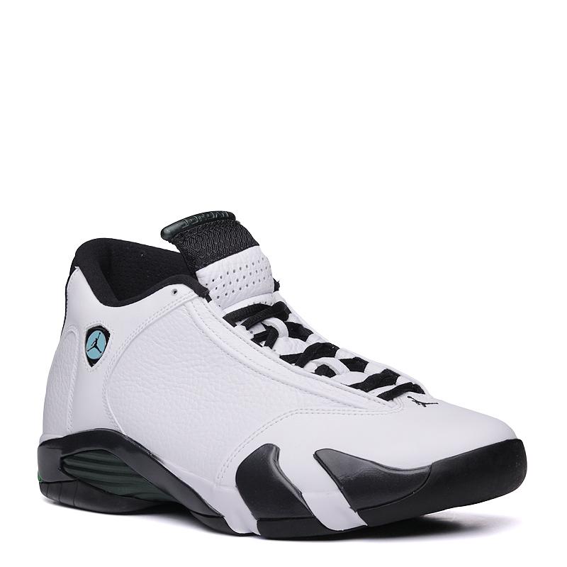 Кроссовки Jordan Air Jordan 14 RetroКроссовки lifestyle<br>Кожа, пластик, текстиль, резина<br><br>Цвет: белый<br>Размеры US: 7;7.5;8;8.5;9;9.5;10;10.5;11;11.5;12<br>Пол: Мужской
