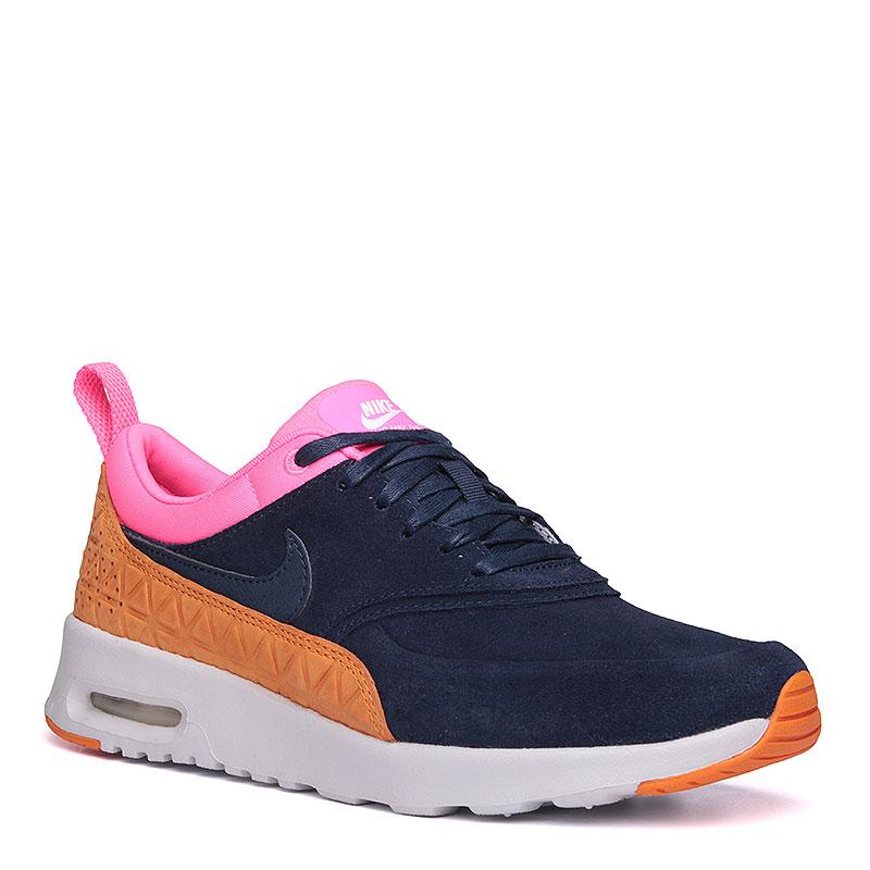Кроссовки  Nike Sportswear WMNS Air Max Thea PRM LTHКроссовки lifestyle<br>кожа, текстиль, резина.<br><br>Цвет: синий, розовый, коричневый, белый.<br>Размеры US: 8.5<br>Пол: Женский