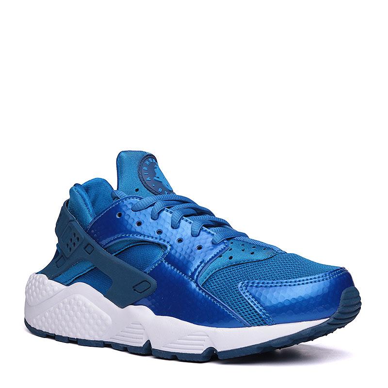 Кроссовки Nike Sportswear WMNS Air Huarache RunКроссовки lifestyle<br>текстиль, синтетика, резина, пластик.<br><br>Цвет: синий, белый.<br>Размеры US: 7.5<br>Пол: Женский