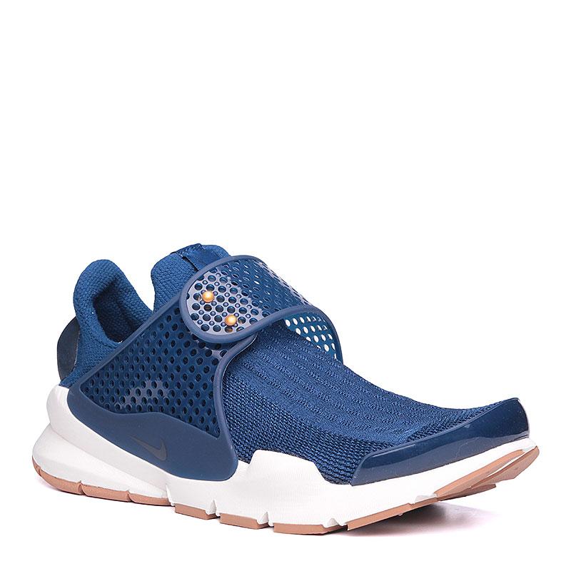 Кроссовки Nike sportswear WMNS Sock DartКроссовки lifestyle<br>текстиль, резина, пластик.<br><br>Цвет: синий, белый.<br>Размеры US: 5;6;7;8;9<br>Пол: Женский