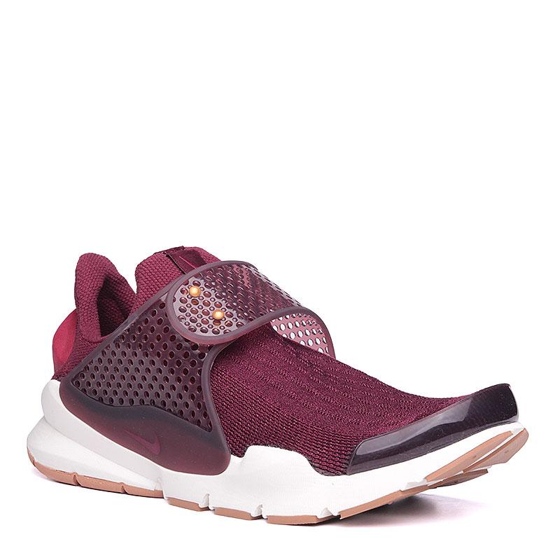 Кроссовки Nike Sportswear WMNS Sock DartКроссовки lifestyle<br>текстиль, резина, пластик.<br><br>Цвет: бордовый.<br>Размеры US: 6<br>Пол: Женский