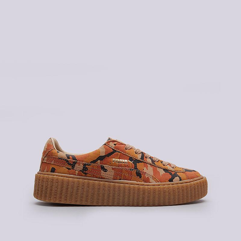 женские камуфляж, красные, оранжевые. кроссовки puma suede creepers camo  rihanna 36234101 - цена 980bfbe104a
