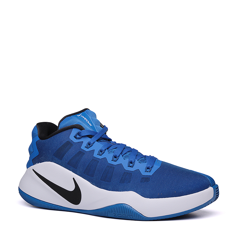 Кроссовки Nike Hyperdunk 2016 LowКроссовки баскетбольные<br>пластик,текстиль,резина<br><br>Цвет: Синий<br>Размеры US: 8<br>Пол: Мужской