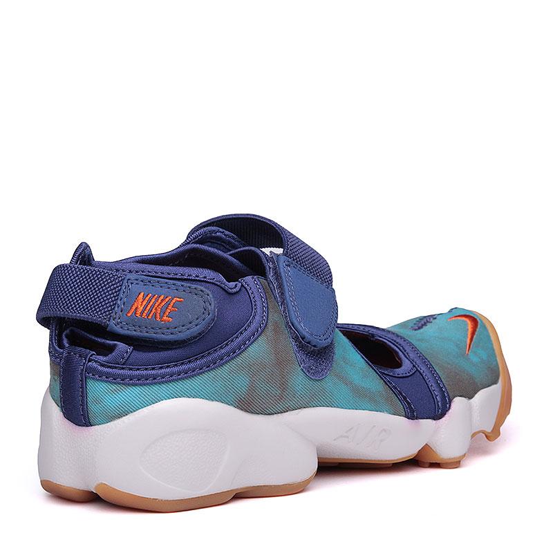 женские синие, голубые, белые.  сандалии nike wmns air rift prm qs 848502-500 - цена, описание, фото 3