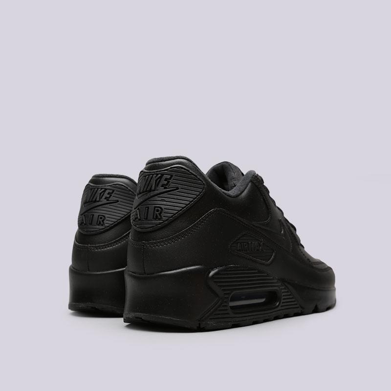 мужские чёрные.  кроссовки nike air max 90 leather 302519-001 - цена, описание, фото 3