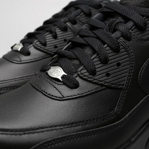 мужские чёрные.  кроссовки nike air max 90 leather 302519-001 - цена, описание, фото 5