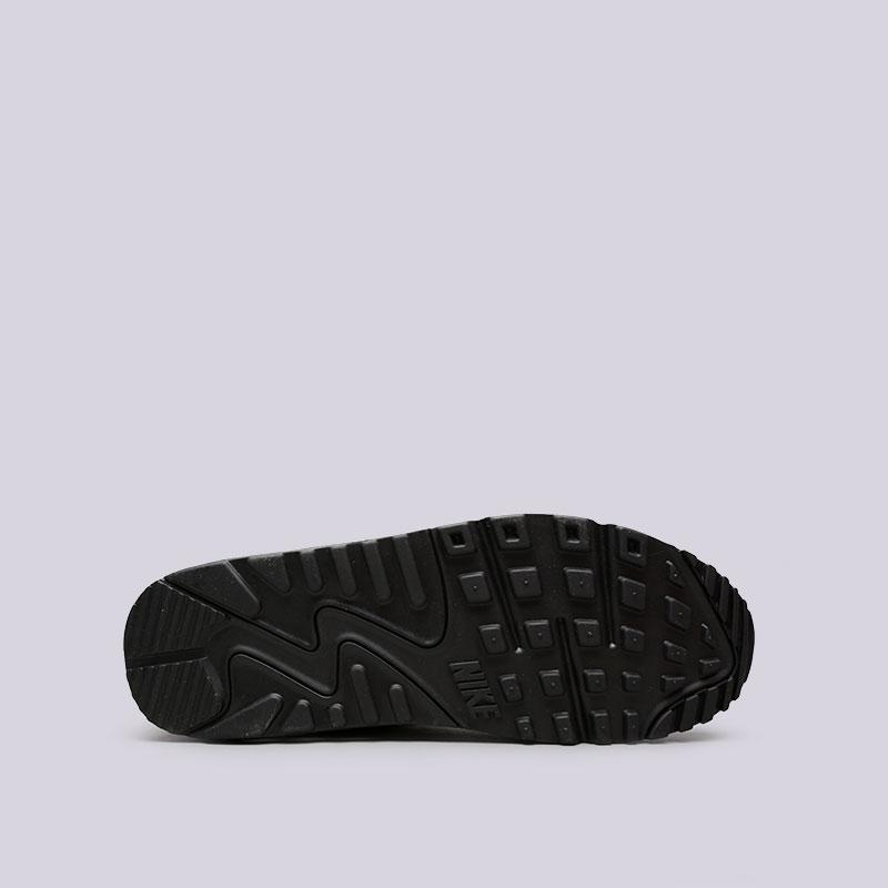 мужские чёрные.  кроссовки nike air max 90 leather 302519-001 - цена, описание, фото 2