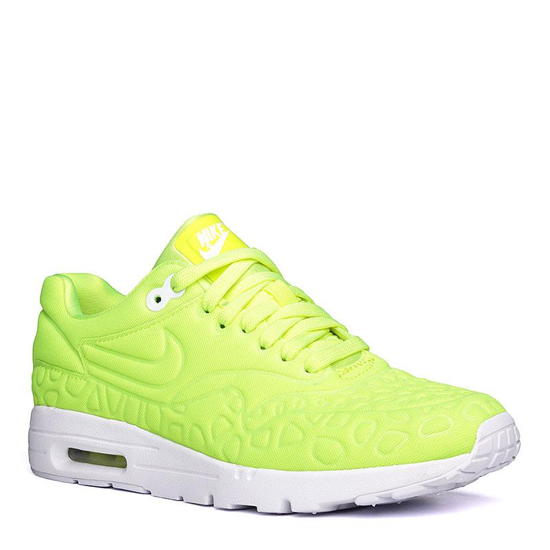 Кроссовки Nike WMNS Air Max 1 Ultra PlushКроссовки lifestyle<br>текстиль, резина.<br><br>Цвет: салатовый, белый.<br>Размеры US: 7<br>Пол: Женский