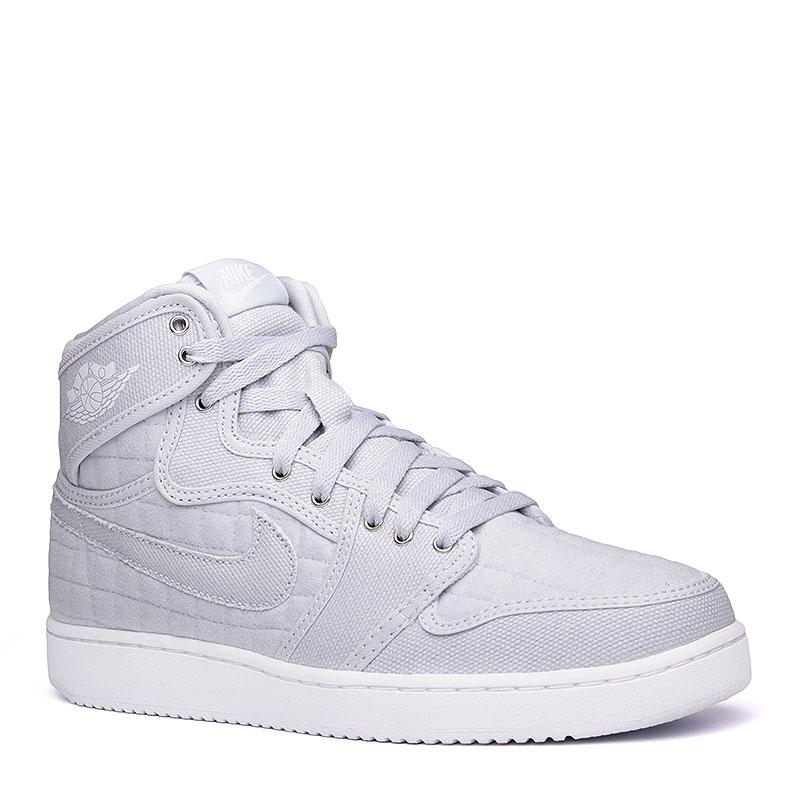 Кроссовки Air Jordan 1 KO High OGКроссовки lifestyle<br>текстиль, резина.<br><br>Цвет: серый, белый.<br>Размеры US: 7<br>Пол: Мужской