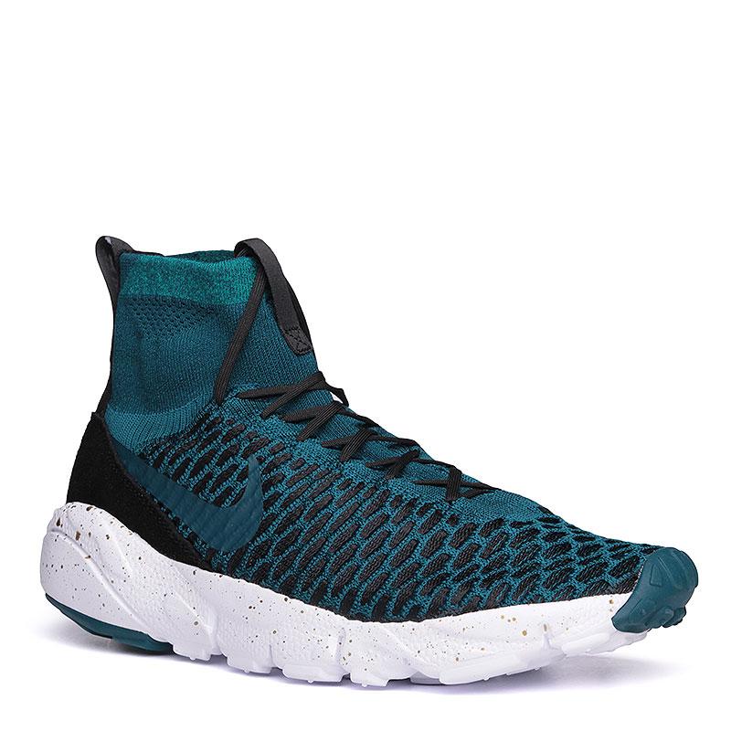Кроссовки  Nike sportswear Air Footscape Magista FK FCКроссовки lifestyle<br>текстиль, пластик, резина.<br><br>Цвет: бриллиантовый зелёный, белый, чёрный.<br>Размеры US: 8;8.5;9;9.5;10;10.5;11;11.5;12<br>Пол: Мужской