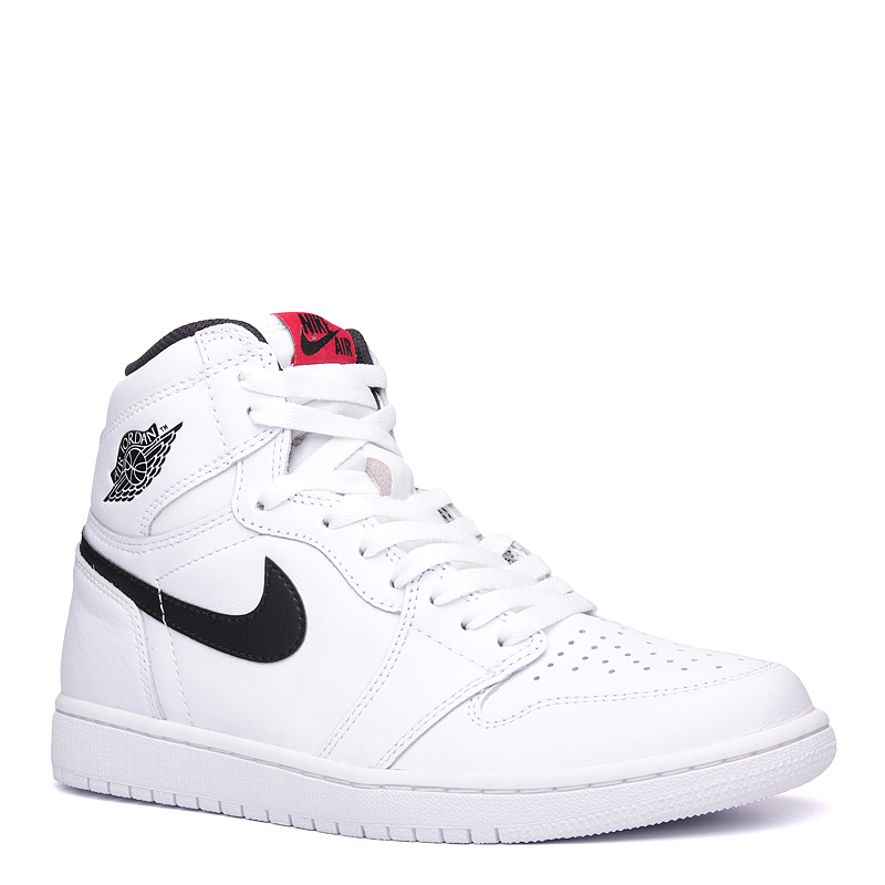 Кроссовки Air Jordan 1 Retro High OGКроссовки lifestyle<br>кожа, синтетика, текстиль, резина.<br><br>Цвет: белый.<br>Размеры US: 12<br>Пол: Мужской