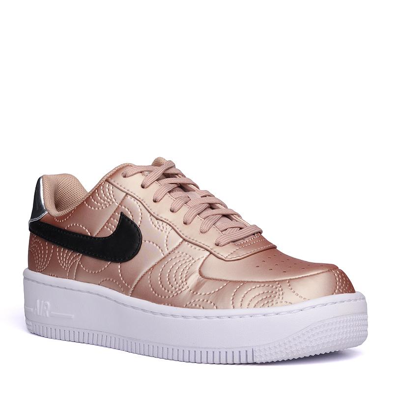 Кроссовки Nike sportswear WMNS Air Force 1 UPSTEP LOTC QSКроссовки lifestyle<br>синтетика, текстиль, резина<br><br>Цвет: золотой<br>Размеры US: 8;8.5;9<br>Пол: Женский
