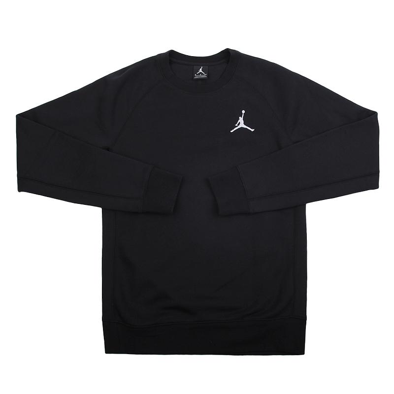 Толстовка Jordan Flight Fleece CrewТолстовки свитера<br>80% хлопок, 20% полиэстер<br><br>Цвет: Черный<br>Размеры US: S;2XL<br>Пол: Мужской