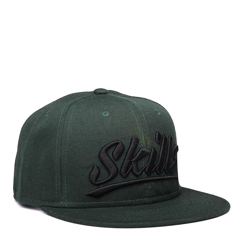 Кепка Skills Skills 03Кепки<br>шерсть, акрил.<br><br>Цвет: зелёный.<br>Размеры : OS