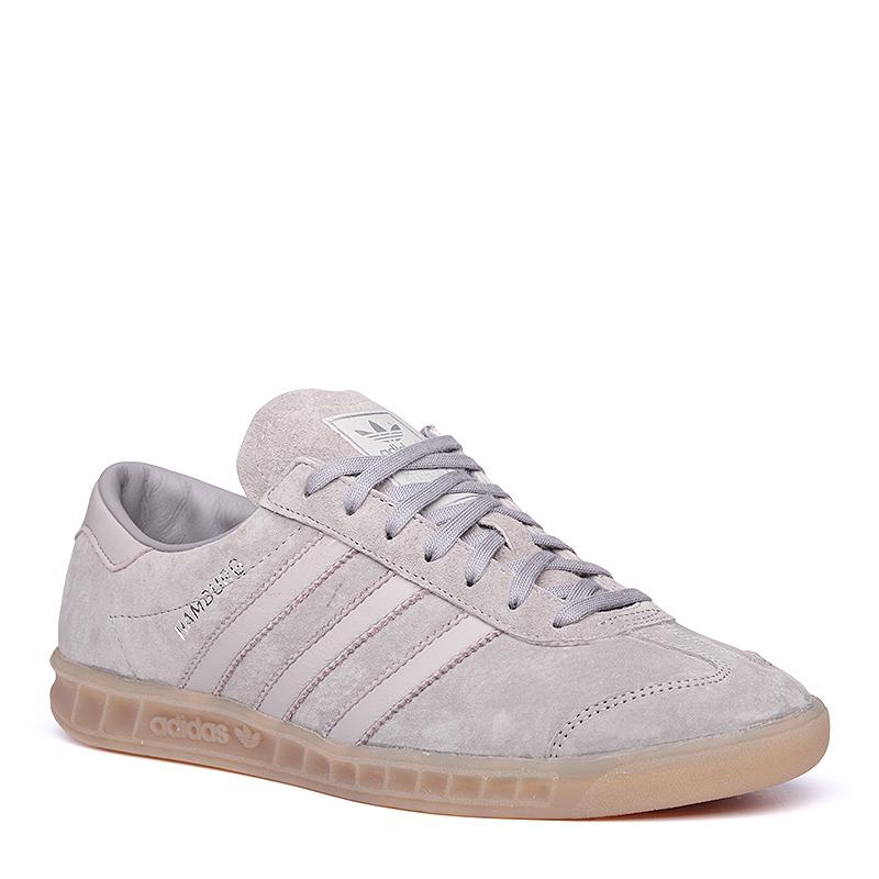 Кроссовки adidas Originals HamburgКроссовки lifestyle<br>кожа, текстиль, резина<br><br>Цвет: Серый<br>Размеры UK: 11;11.5<br>Пол: Мужской