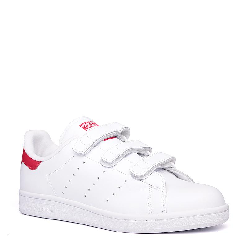 Кроссовки adidas Originals Stan Smith CFКроссовки lifestyle<br>кожа, текстиль, резина<br><br>Цвет: Белый, красный<br>Размеры UK: 7.5;10.5;11;11.5<br>Пол: Мужской