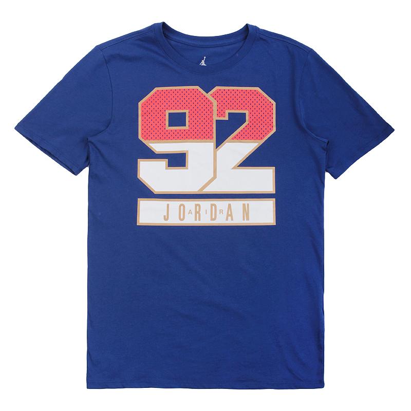 Футболка Jordan AJ 7 92 TeeФутболки<br>100% хлопок<br><br>Цвет: Синий<br>Размеры US: S;M;L;XL<br>Пол: Мужской