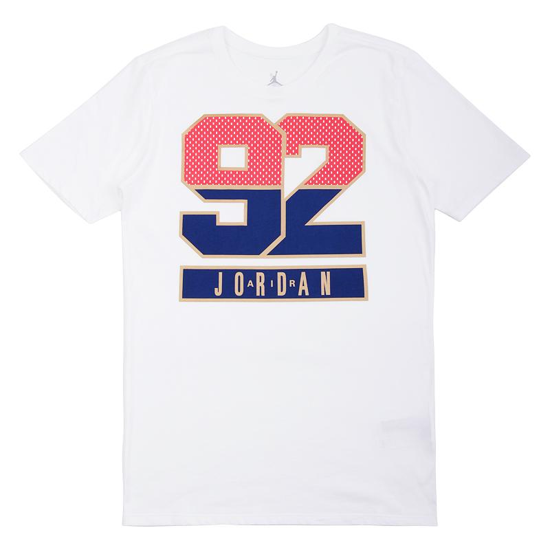 Футболка Jordan AJ 7 92 TeeФутболки<br>100% хлопок<br><br>Цвет: Белый<br>Размеры US: M;XL<br>Пол: Мужской