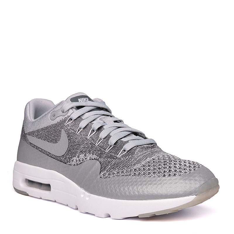 Кроссовки Nike Sportswear Air Max 1 Ultra FlyknitКроссовки lifestyle<br>текстиль, пластик, резина.<br><br>Цвет: серый, белый.<br>Размеры US: 9;9.5;10;10.5;11;11.5;12<br>Пол: Мужской