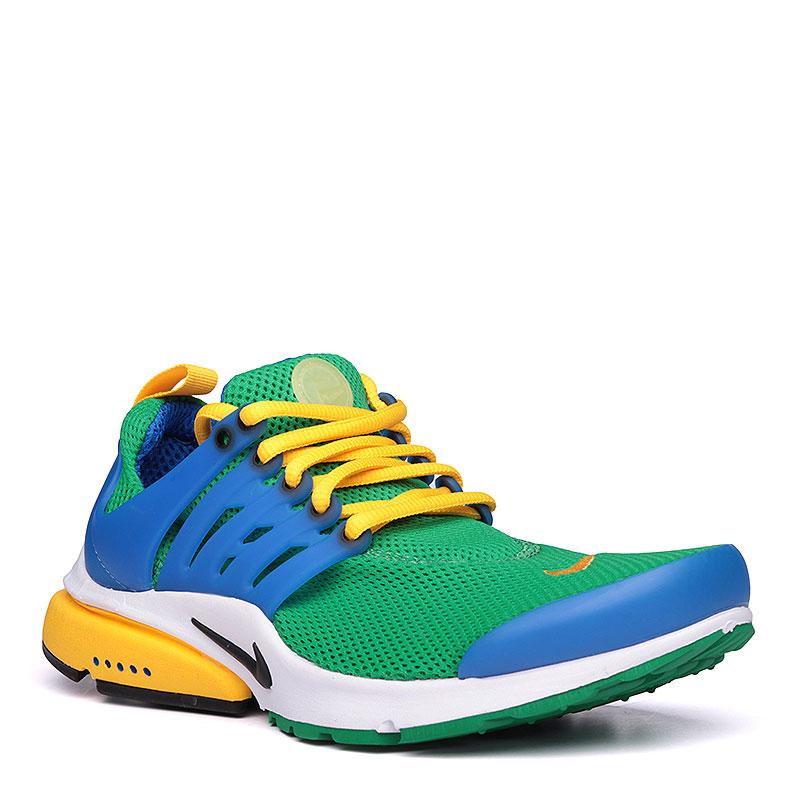 Кроссовки Nike Sportswear Air Presto EssentialКроссовки lifestyle<br>текстиль, пластик, резина.<br><br>Цвет: зелёный, жёлтый, синий.<br>Размеры US: 7;8;9;10;11<br>Пол: Мужской