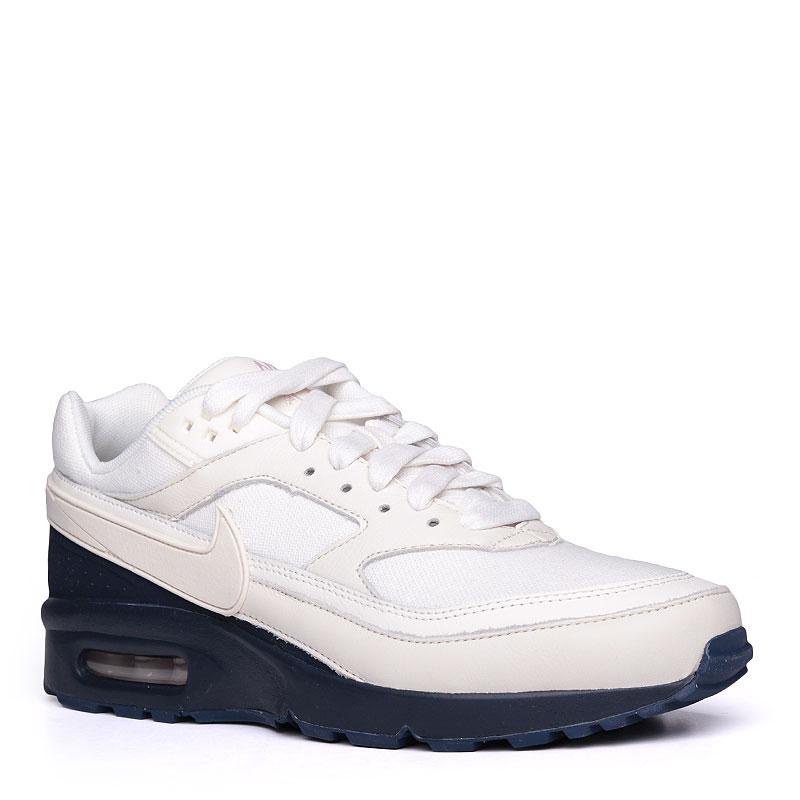 Кроссовки  Nike Sportswear Air Max BW PremiumКроссовки lifestyle<br>кожа, синтетика, текстиль, резина.<br><br>Цвет: белый, синий.<br>Размеры US: 10;10.5<br>Пол: Мужской