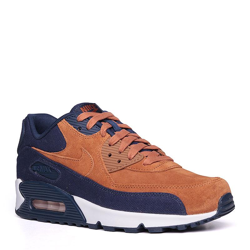Кроссовки Nike Sportswear Air Max 90 PremiumКроссовки lifestyle<br>текстиль, кожа, резина.<br><br>Цвет: коричневый, синий.<br>Размеры US: 8<br>Пол: Мужской
