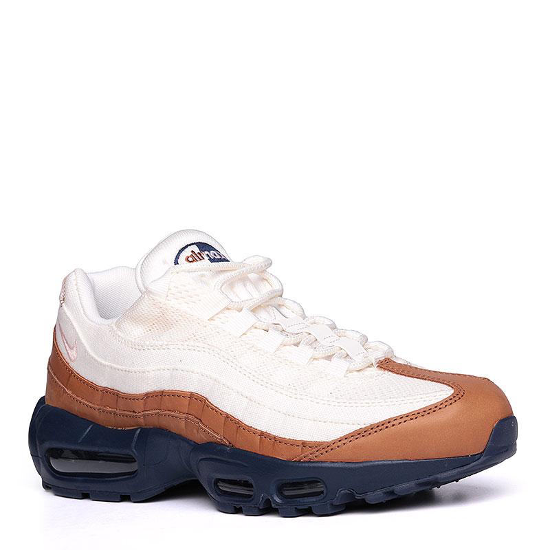 Кроссовки Nike Sportswear Air Max 95 PRMКроссовки lifestyle<br>текстиль, кожа, синтетика, резина, пластик.<br><br>Цвет: кремовый, коричневый, синий.<br>Размеры US: 8;10.5<br>Пол: Мужской